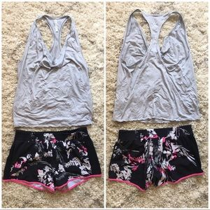 New Fabletics Exercise Shorts / Tank Top Set M